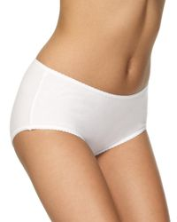 Marks & Spencer - White 5 Pack Cotton Rich Midi Knickers With New & Improved Fabric - Lyst