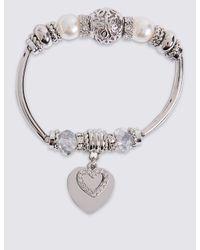 Marks & Spencer   Metallic Heart Sparkle Bracelet   Lyst
