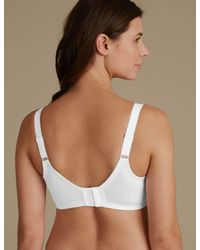 Marks & Spencer - White Total Support Vintage Lace Non-padded Full Cup Bra B-g - Lyst