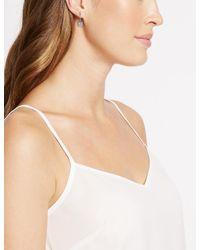 Marks & Spencer - Metallic Platinum Plated Cut Drop Earrings - Lyst