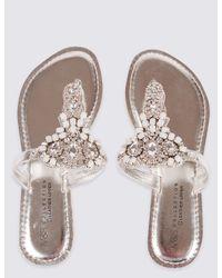 Marks & Spencer Metallic Bling Toe Thong Flip Flops