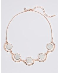 Marks & Spencer - Multicolor Circle Collar Necklace - Lyst