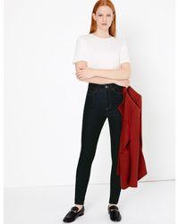 Marks & Spencer Blue High Waisted Skinny Jeans