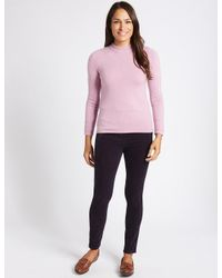 cfd7f0d9ea9 Lyst - Marks   Spencer Cotton Rich Straight Leg Corduroy Trousers in ...