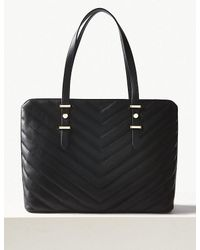 Marks & Spencer Black Faux Leather Tote Bag