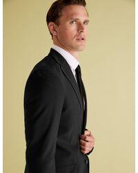 Marks & Spencer Black The Ultimate Tailored Fit Jacket for men