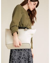 Marks & Spencer Natural Faux Leather Tote Bag