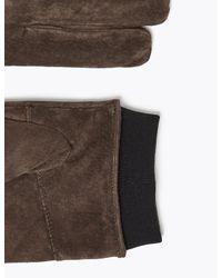 Marks & Spencer Brown Suede Gloves for men