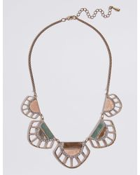 Marks & Spencer - Metallic Cut Out Shell Collar Necklace - Lyst