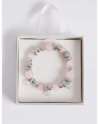 Marks & Spencer - Pink Sparkle Bracelet - Lyst