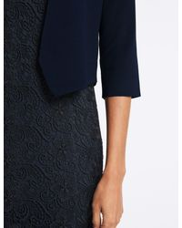 Marks & Spencer - Blue Open Front Cardigan - Lyst