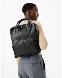 Marks & Spencer Black Saffiano Tote Backpack for men