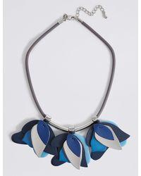 Marks & Spencer - Blue Multi Petal Collar Necklace - Lyst