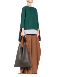 Marni - Black Runway Maxi Strap Bag In Tumbled Calfskin - Lyst