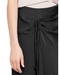 Marni - Black Skirt In Silk Crepe - Lyst