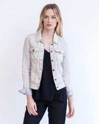 Marrakech   Blue Gia Linen Jacket - Stripe   Lyst