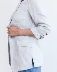 Marrakech | Gray Lasola Linen Blazer | Lyst