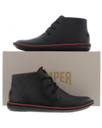 Camper Black Beetle 36530 Leather Chukka Ankle Boots for men