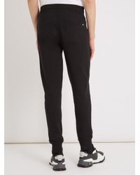Moncler - Black Basic Tapered-leg Cotton Track Pants for Men - Lyst