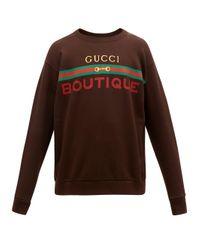 メンズ Gucci ロゴ スウェットシャツ Brown