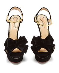 Charlotte Olympia Broadway 95 (black Velvet) High Heels