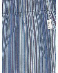 Paul Smith - Blue Striped Cotton Boxer Shorts for Men - Lyst