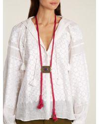 Etro - Multicolor Tassel-embellished Engraved Necklace - Lyst