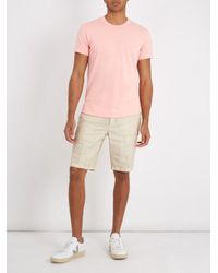 Sørensen Pink Dancer Crew-neck Cotton-blend T-shirt for men