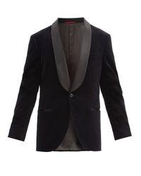 メンズ Brunello Cucinelli ショールラペル コットンベルベット タキシードジャケット Black