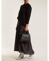 Valextra Black Iside Medium Grained-leather Bag