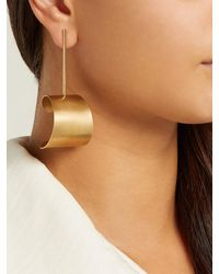 Fay Andrada Multicolor Tappi Large Brass Drop Earrings