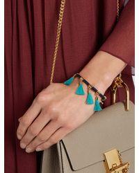 Chloé - Blue Marin Tasseled Bracelet - Lyst