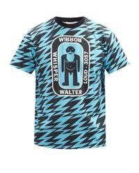 メンズ Walter Van Beirendonck フラッシュ コットンtシャツ Blue