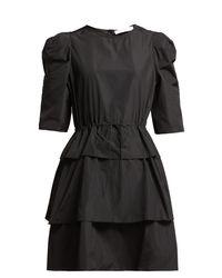 Robe courte à superpositions et à taille nouée See By Chloé en coloris Black