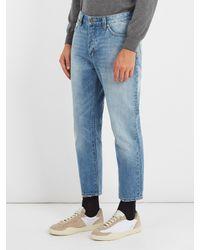 Neuw - Blue Boss Straight-leg Cropped Jeans for Men - Lyst