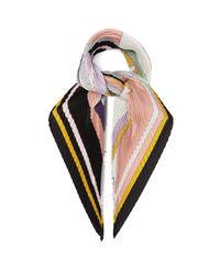 Etro ジョードプル プリーツシルクスカーフ Multicolor