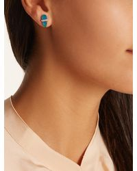 Jacquie Aiche - Blue Diamond, Opal & Rose-gold Earring - Lyst