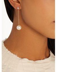 Delfina Delettrez - Multicolor Diamond, Pearl & Yellow-gold Single Earring - Lyst