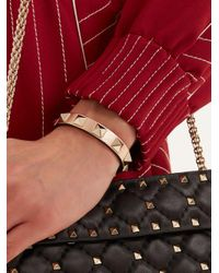 Valentino - Multicolor Large Rockstud Leather Bracelet - Lyst