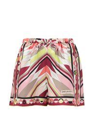 Emilio Pucci ベスプリント シルクツイルショートパンツ Pink