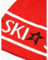 Perfect Moment スキージャカード ウールビーニー Red