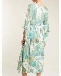 Robe nouée en crêpe à imprimé feuille Peter Pilotto en coloris Green