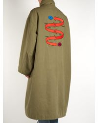Balenciaga - Green Embroidered Oversized Parka for Men - Lyst