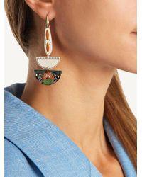 Isabel Marant Green Ma Vallee Resin Earrings