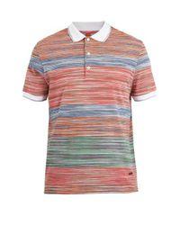 Missoni Multicolor Contrasting Striped-knit Cotton Polo Shirt for men