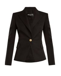 Balmain Black Single-breasted Wool Blazer