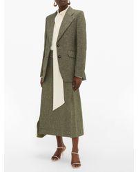 Victoria Beckham ジャービス シングルツイードジャケット Green