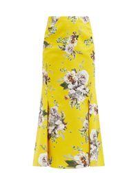 Erdem イヴェッタ フローラルキャンバススカート Yellow