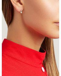 Marie Mas Pink Amethyst, Topaz & 18kt Rose-gold Earrings
