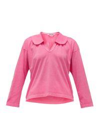 Comme des Garçons Comme Des Garçons Comme Des Garçons ピーターパンカラー コットンジャージーシャツ Pink